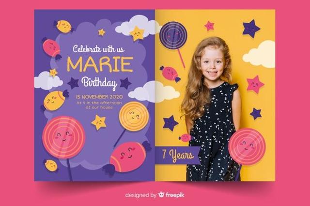 Undangan Ulang Tahun Anak, Inspirasi Desain yang Menarik dan Unik (66961)