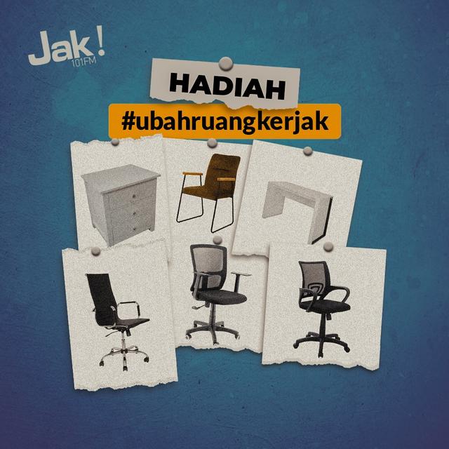 Biar WFH Makin Produktif, JAK FM Bagikan Meja & Kursi Kerja di #UbahRuangKerJAK (952439)