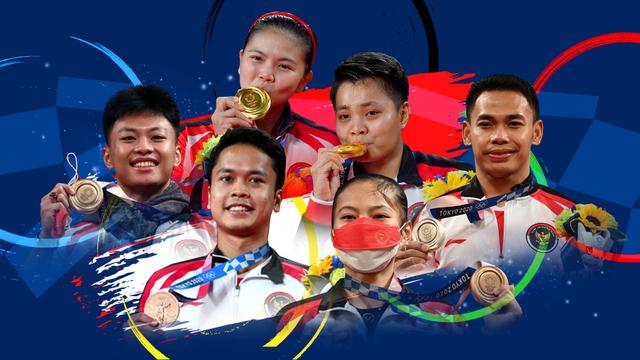 Infografik: RI Bawa Pulang 5 Medali Olimpiade 2020 (55171)