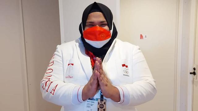 Pujian untuk Nurul Akmal, Atlet Angkat Besi Asal Aceh di Olimpiade Tokyo 2020 (1064148)