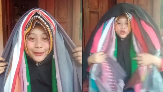 Kocak, Perempuan Ini Coba Pakai Jilbab 100 Lapis, Warganet: Kayak Reog Ponorogo (46246)
