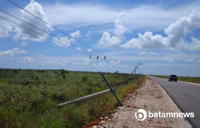 Duh Bahaya, Tiang Listrik Jalan Trans Batubi-Kelarik Banyak yang Tumbang (842365)