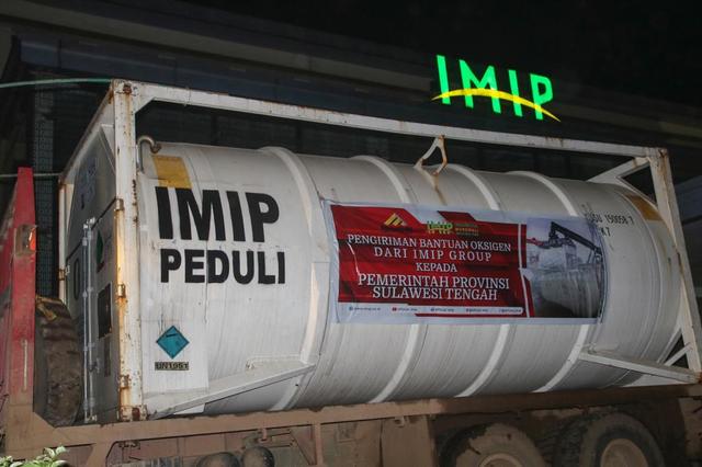 Hari Ini, 40 Ton Oksigen Medis Bantuan IMIP Tiba di Palu (144143)