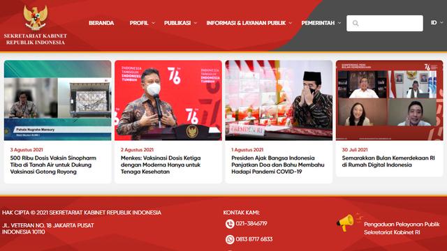 Situs Resmi setkab.go.id Telah Pulih Usai Pelaku Peretas Ditangkap Polisi (71278)
