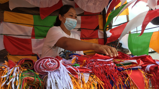 Nestapa Penjual Bendera di DIY di Bulan Kemerdekaan: Sepi Pembeli (10560)
