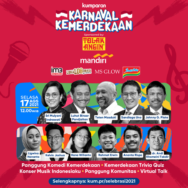 Jokes Ananta Rispo di Karnaval Kemerdekaan: Panjat Pinang Jadi Panjat Sosial (10326)