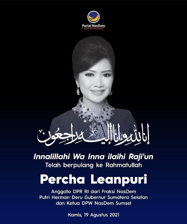 NasDem Berduka Wafatnya Anggota DPR Percha Leanpuri: Pribadi Rendah Hati (101194)