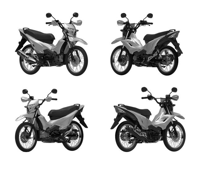 Honda Daftarkan Paten Bebek Trail XRM125 di Indonesia, Konsumsi BBM 65,4 Km/l (46514)