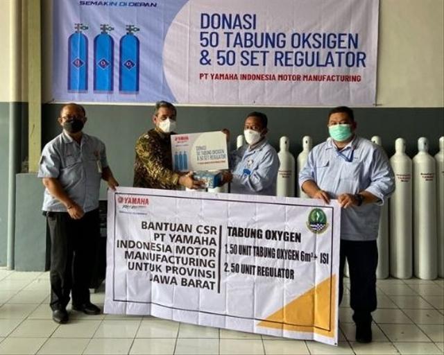Yamaha Indonesia Sumbang Tabung Oksigen dan Sediakan 16.000 Vaksin Gratis (402945)