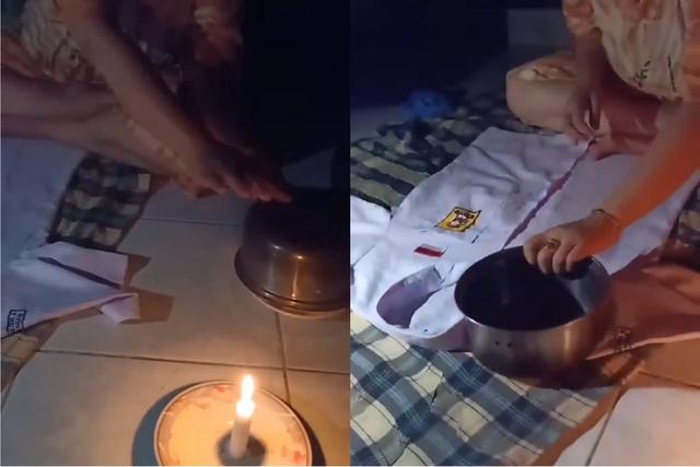 Unik, Ibu Ini Setrika Baju saat Mati Lampu, Netizen: Enggak Kepikiran (891181)