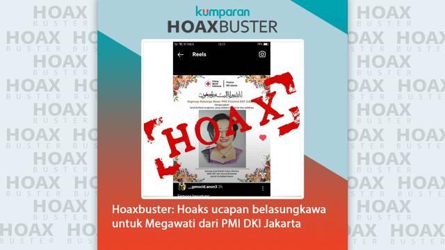 Penyebar Hoaks Megawati Meninggal yang Catut PMI DKI Dilaporkan ke Polda Metro (41009)