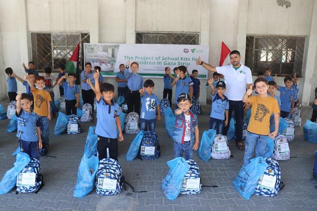 Dompet Dhuafa-YBM BRI Distribusi Ratusan Paket School Kits Bagi Pelajar Di Gaza (15399)