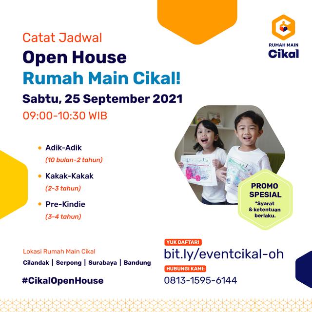 Catat Tanggalnya! Open House Sekolah Cikal Serentak 24-25 September 2021 (1020284)