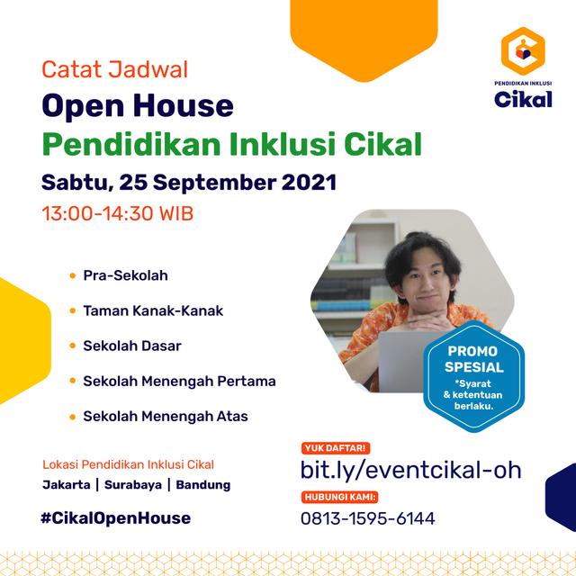Catat Tanggalnya! Open House Sekolah Cikal Serentak 24-25 September 2021 (1020286)