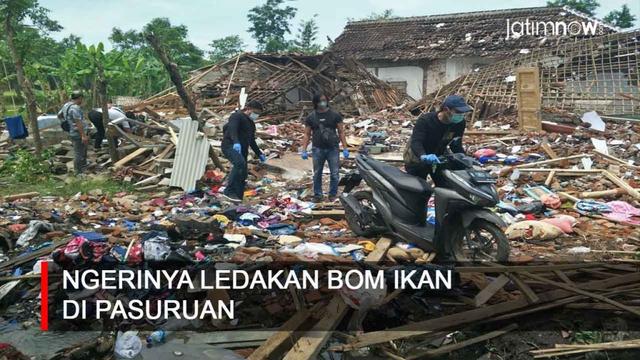 Video: Ngerinya Ledakan Bom Ikan di Pasuruan (34549)