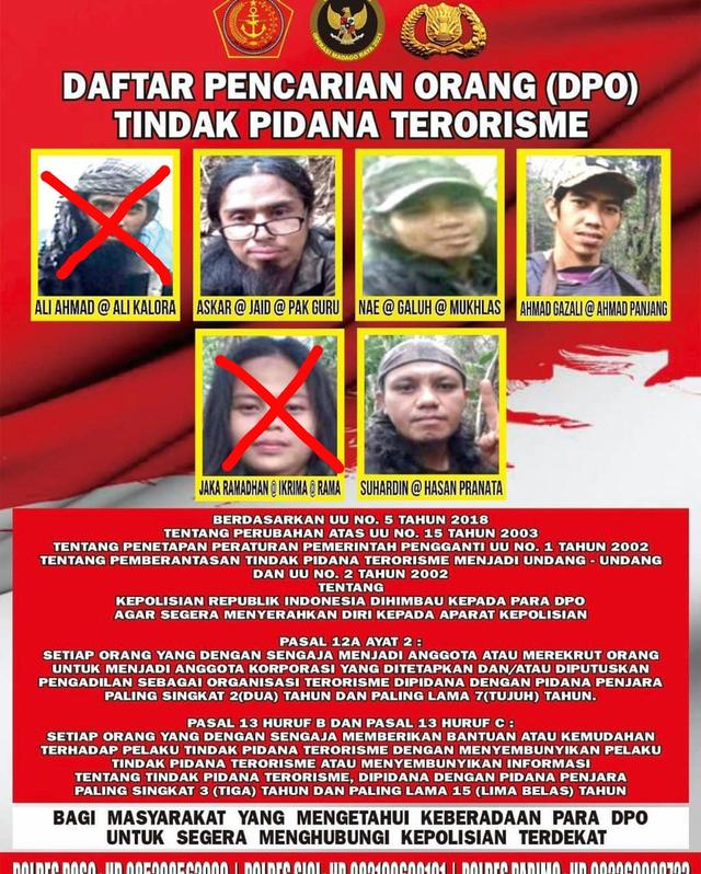 4 DPO Teroris Poso yang Tersisa, Berikut Nama-namanya (126778)