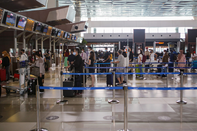 Foto: Pembatasan Pintu Masuk Internasional di Bandara Soetta (144127)
