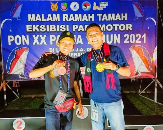 Atlet Paramotor Binaan Lanud Pangeran M Bun Yamin Raih Emas di PON XX Papua 2021 (47909)