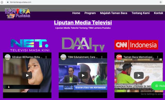 Luncurkan Website, TBM Lentera Pustaka Optimalkan Publikasi Taman Bacaan (47867)