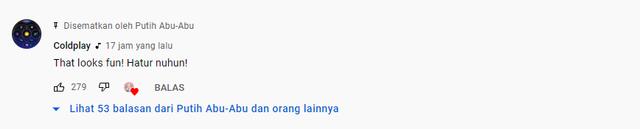 Heboh Coldplay Komentar Pakai Bahasa Sunda di Kanal YouTube Putih Abu-abu (722814)