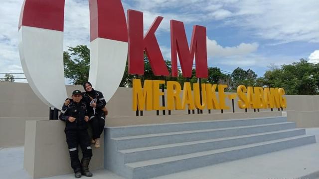Kisah Suami Istri Touring Aceh-Papua Pakai Motor: 2 Kali Gagal Tembus Merauke (711425)