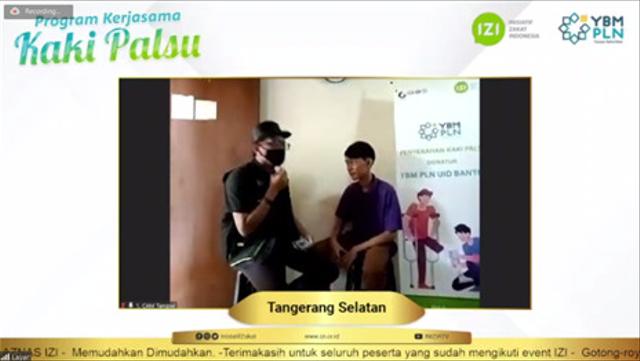 Bantuan Kaki Palsu untuk Difabel dari YBM PLN UID Banten dan IZI Banten (56477)