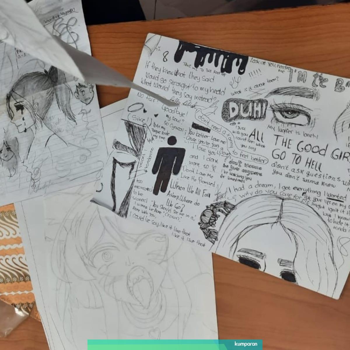 Catatan Remaja Pembunuh Bocah Tulisan Sketsa Hingga Sosok
