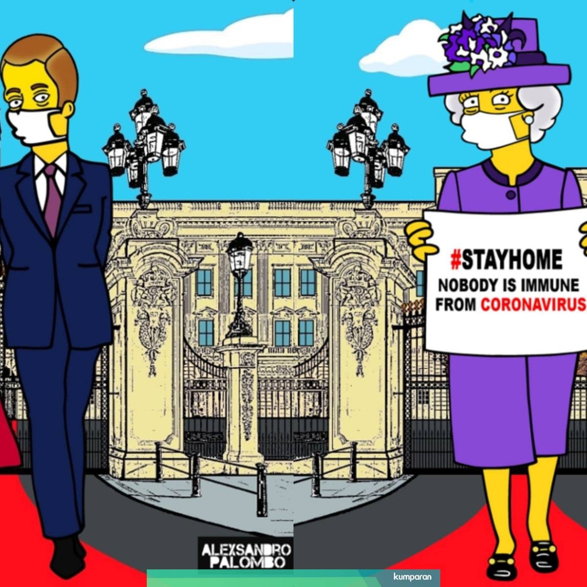 Gambar Kartun Unik Keluarga Kerajaan Inggris Untuk