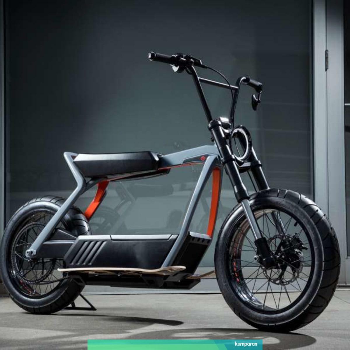 Bocoran Motor Listrik Harley Davidson Tampilannya Mirip Sepeda Bmx Kumparan Com