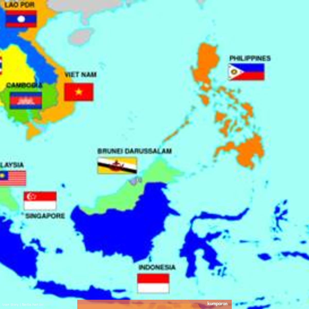 Kondisi Geografis Negara Asean Berdasarkan Peta Kumparan Com