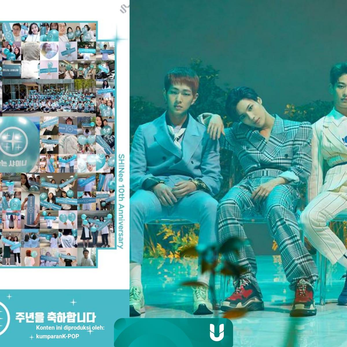 Dukungan Shawol Untuk Rayakan Anniversary Ke 10 Shinee Kumparan Com