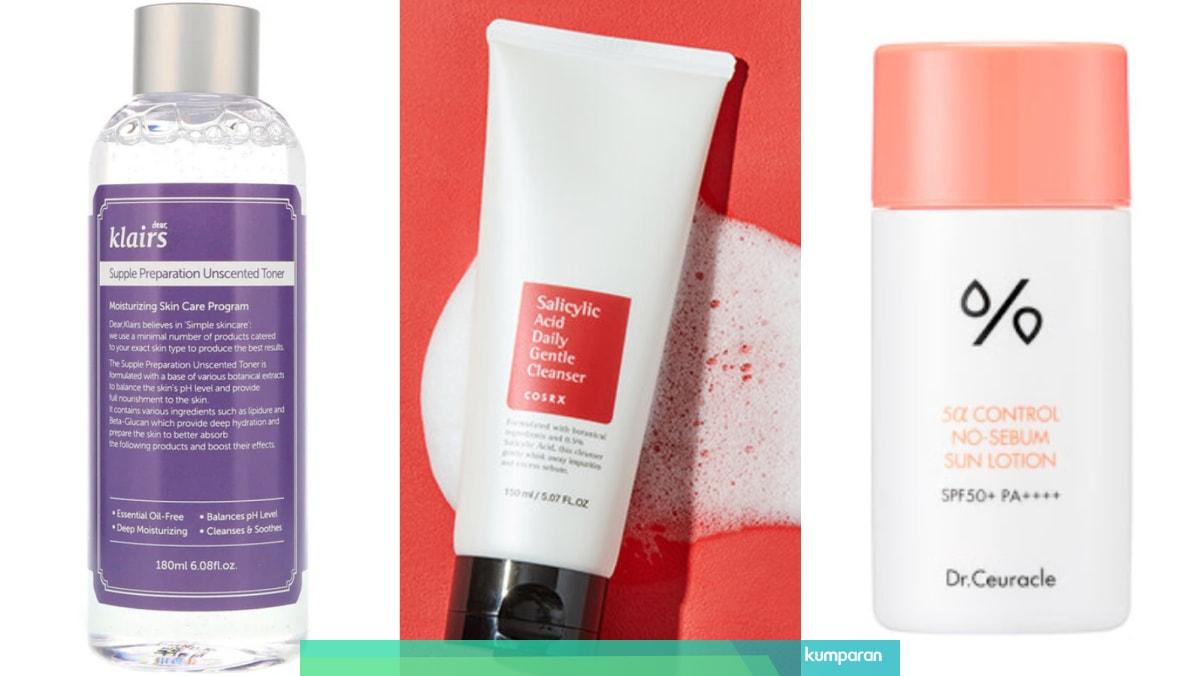 Rekomendasi Skincare Korea Untuk Kulit Berminyak Sabun Muka Hingga Sunscreen Kumparan Com