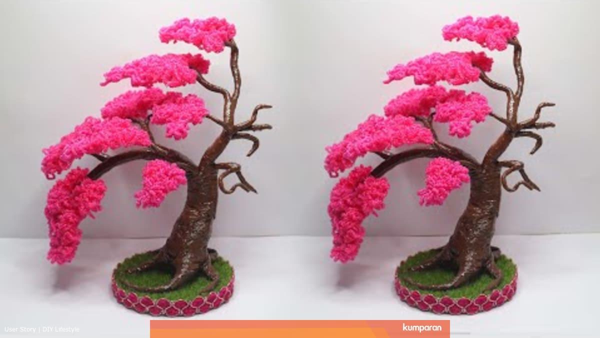 Percantik Sudut Ruangan Rumah Dengan Diy Bonsai Sakura Dari Plastik Kresek Kumparan Com