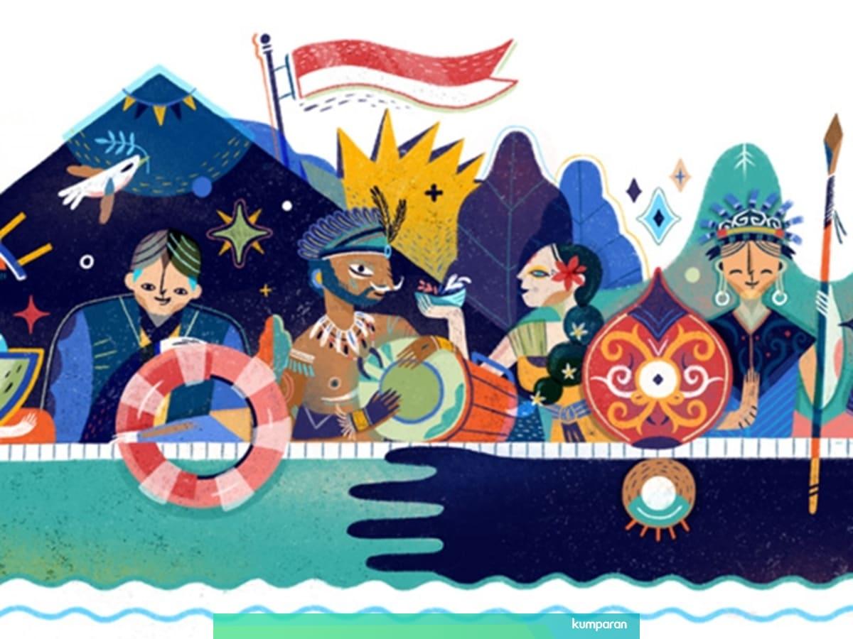 Gambar Ilustrasi Tema Kemerdekaan Indonesia Melihat Google Doodle Hari Kemerdekaan Indonesia Dari Tahun Ke