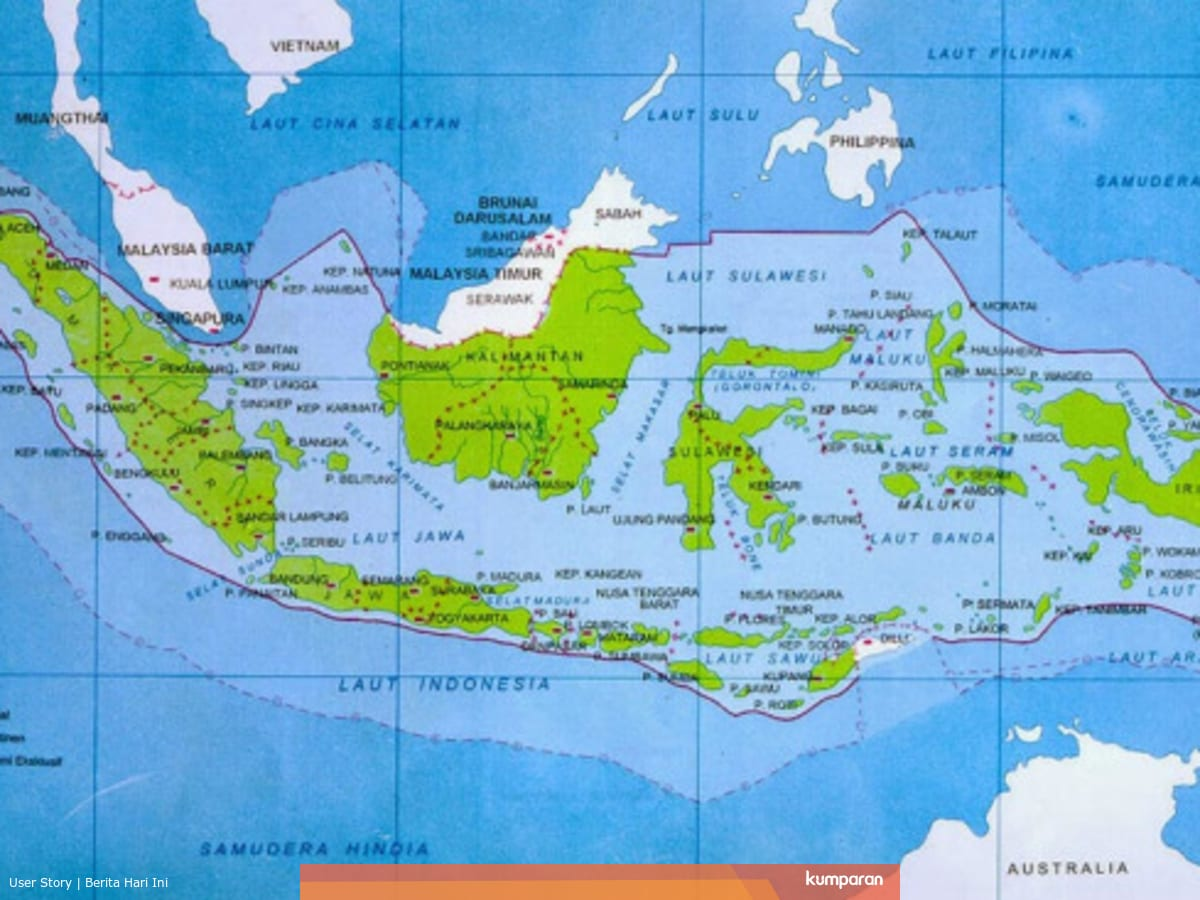 Batas Batas Wilayah Indonesia Secara Geografis Kumparan Com