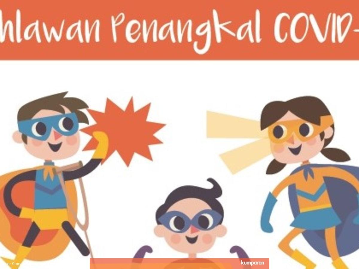Kumpulan Gambar Sosialisasi Virus Corona Untuk Anak Sd Kumparan Com