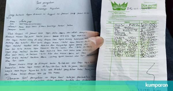 Curhat Andre Beli Nasi Putih Rp 60 Ribu Di Warung Pinggir