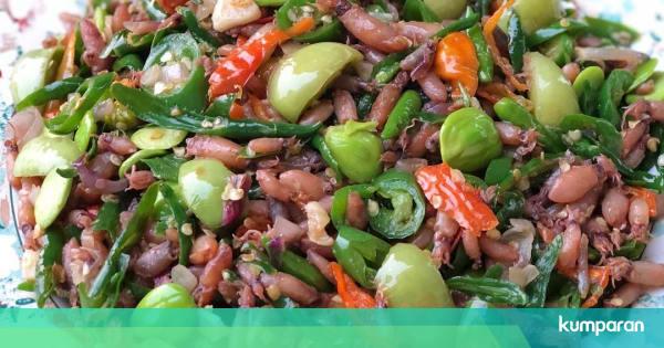 Resep Masakan Oseng Cumi Asin Petai Cabai Hijau Sedap