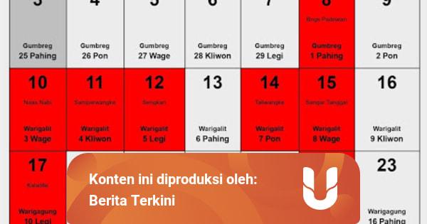 Kalender Jawa Oktober 2021 beserta Tanggal Baik untuk ...