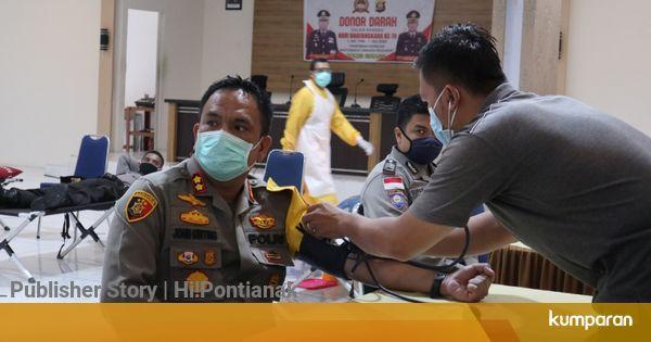 Polres Sintang Gelar Donor Darah Sambut HUT Bhayangkara dengan Protokol COVID-19 - kumparan.com