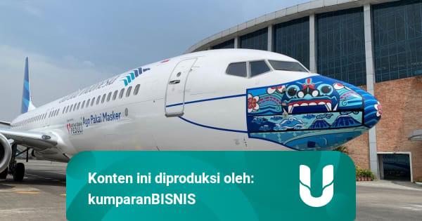 Garuda Indonesia Pasang Desain Masker Baru di Pesawat ...