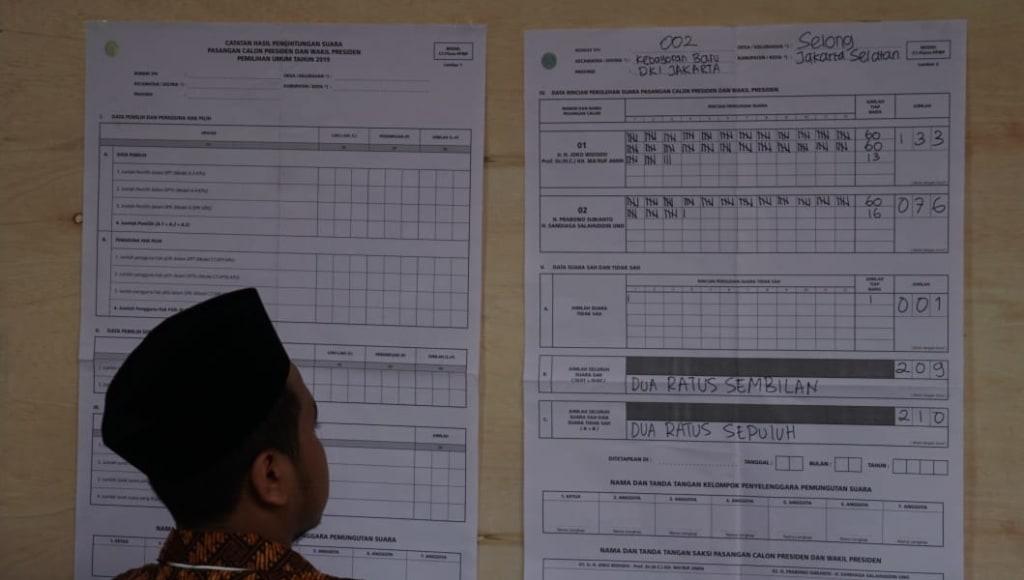 Jokowi-Ma'ruf Amin Menang di TPS Sandiaga Uno