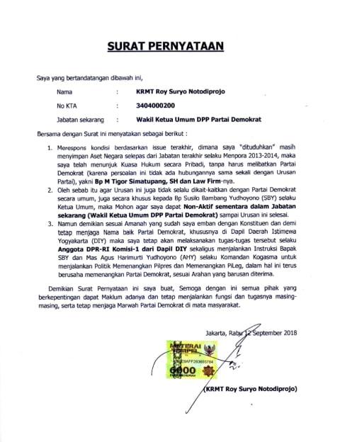 Pernyataan Roy Suryo (NTCV)