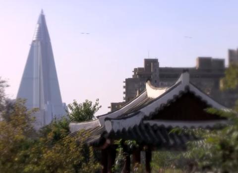 Hotel Ryugyong di Pyongyang, Korea Utara