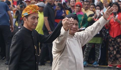 Prabowo dan Jokowi Bergandengan, Deklarasi Kampanye Damai