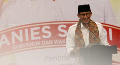 Sandiaga Uno di acara syukuran bersama PKS