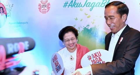 Presiden Jokowi di HUT ke-71 Megawati