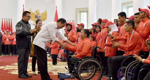 Jokowi, bonus atlet Indonesia, Asian Para Games 2018