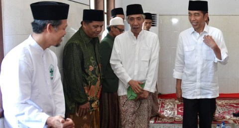 Jokowi berkunjung di Pondok Pesantren Bugen Al-Itqon