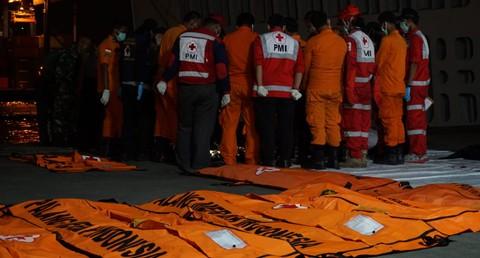 Basarnas, kantong jenazah, korban jatuhnya pesawat Lion Air